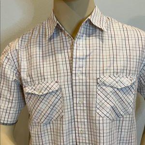 Rewire Men's Button Down Short Sleeve Shirt Size M